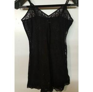 Black Silk & Lace Camisole